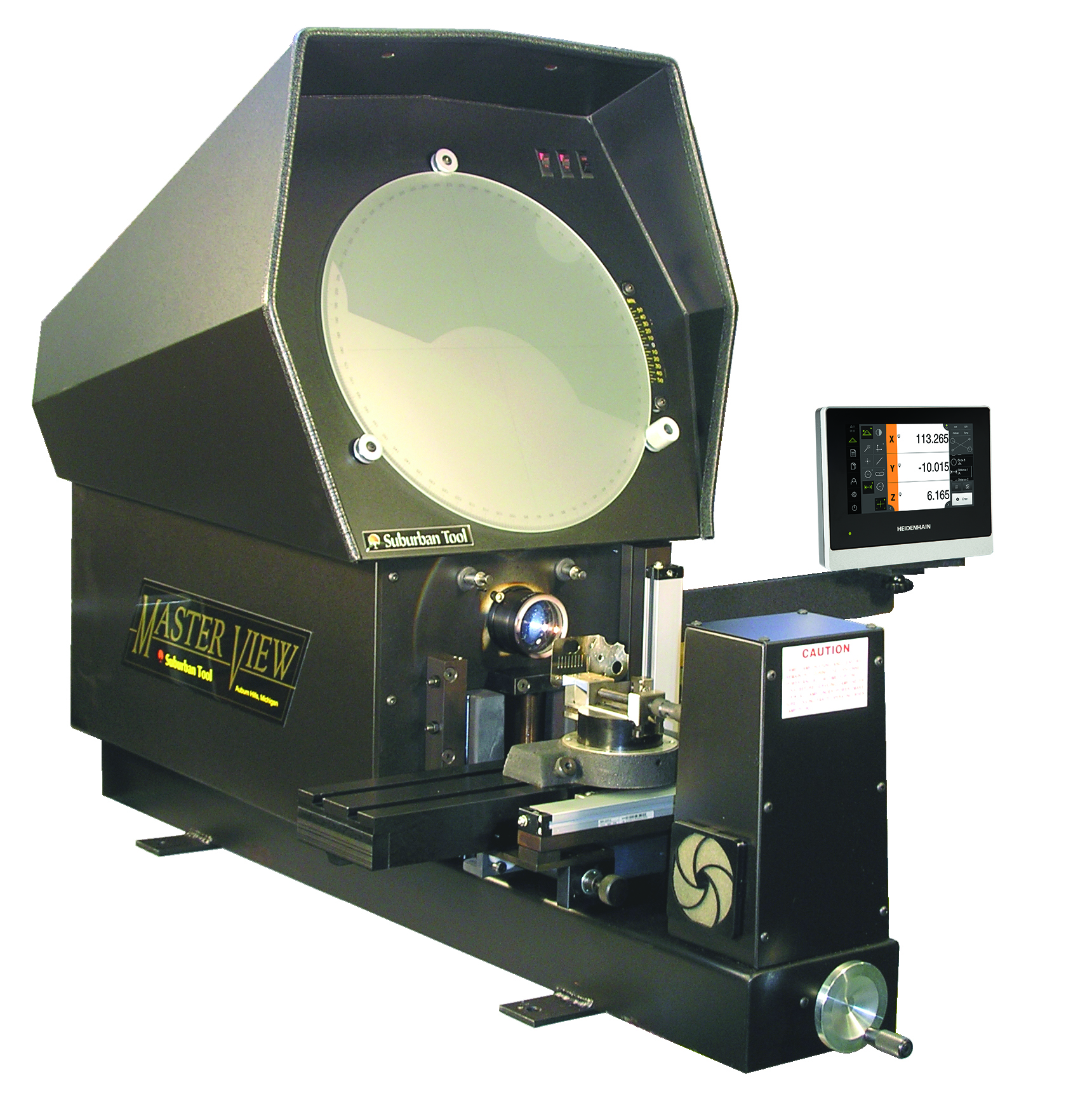 "Suburban Tool Master-View 14"" Optical Comparators with Quadra-Chek Digital Readouts"
